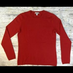 Charter Club Cashmere Red Sweater S repair see pic